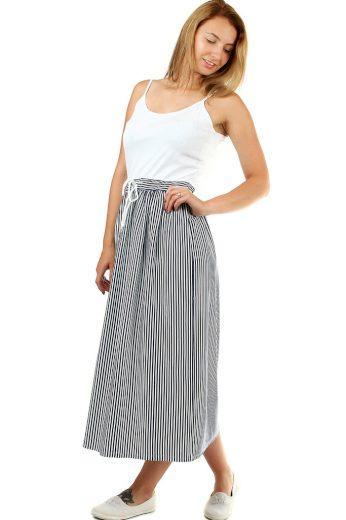 Glara Dámské dlouhé šaty s proužkami 460221