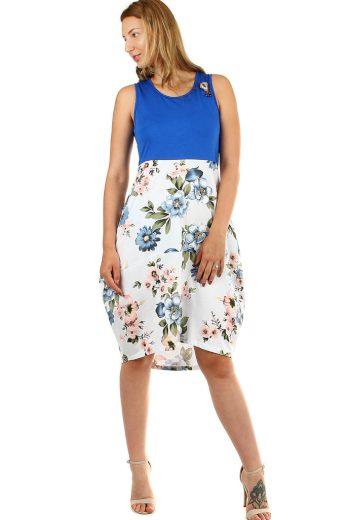 Glara Dámské letní balonové šaty s květinami 460278