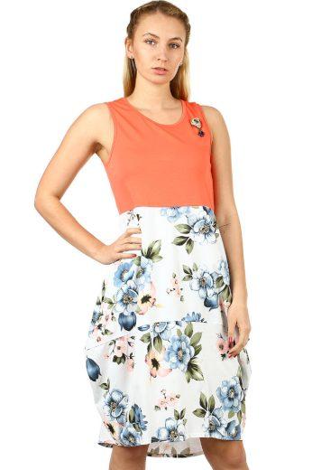 Glara Dámské letní balonové šaty s květinami 465667