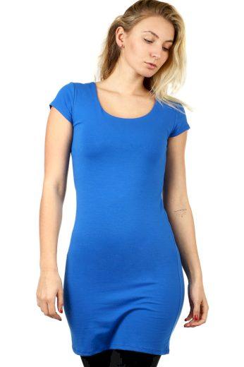 Glara Dlouhé jednobarevné tričko s krátkým rukávem 523903