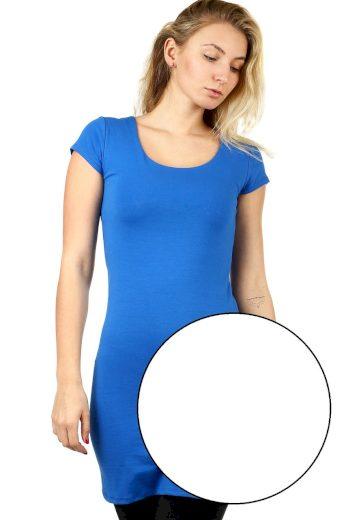 Glara Dlouhé jednobarevné tričko s krátkým rukávem 535634