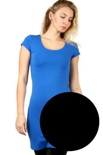 Glara Dlouhé jednobarevné tričko s krátkým rukávem 535635