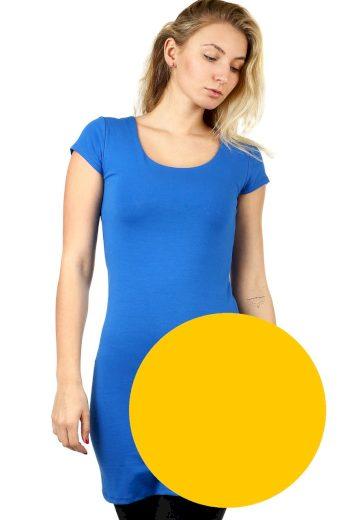 Glara Dlouhé jednobarevné tričko s krátkým rukávem 535637