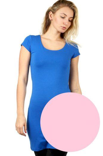 Glara Dlouhé jednobarevné tričko s krátkým rukávem 535640