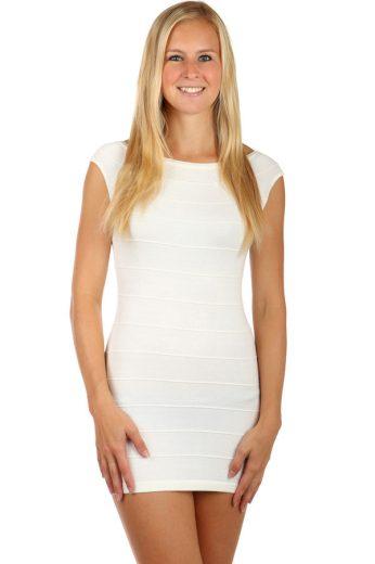 Glara Dámské večerní pletené mini šaty na zip 82325