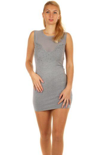 Glara Krátké sexy úpletové mini šaty 182046