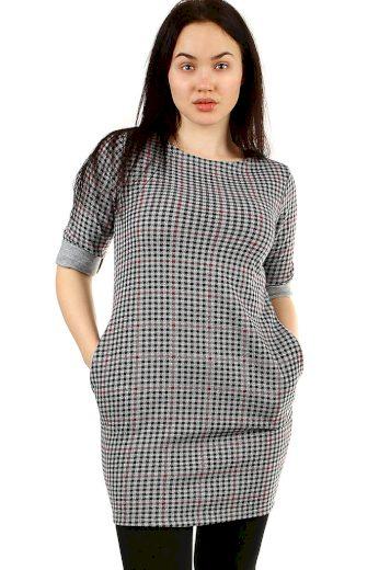 Glara Kostkované úpletové dámské šaty 431861