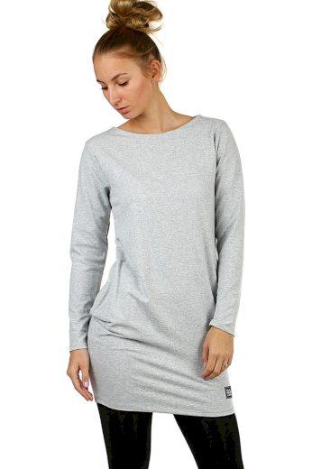 Glara Jednobarevné bavlněné dámské šaty 499009