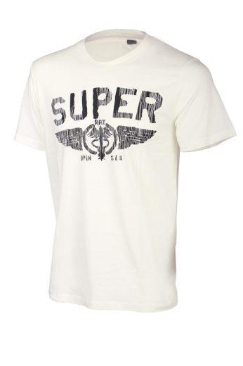 Glara Pánské bavlněné tričko s krátkým rukávem a potiskem super 41215