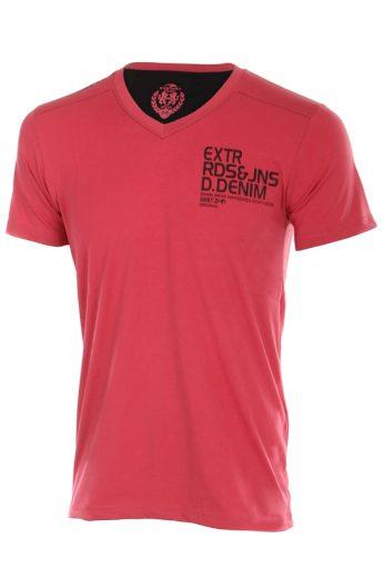 Glara Pánské sportovní tričko s krátkým rukávem a nápisem 41316