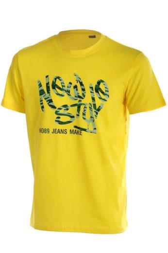 Glara Pánské tričko s krátkým rukávem a potiskem vpředu 52061