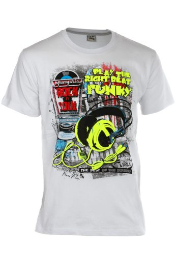 Glara Bavlněné pánské tričko s krátkým rukávem a potiskem 119278
