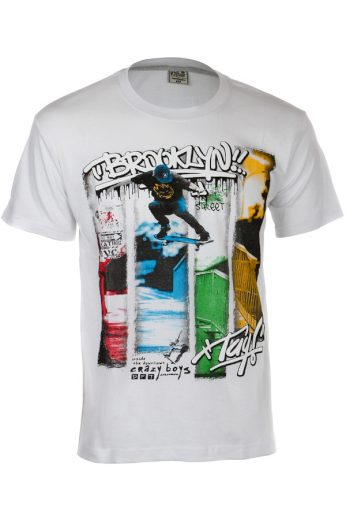 Glara Bavlněné pánské tričko s krátkým rukávem a potiskem Brooklyn 119352