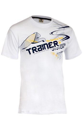 Glara Bavlněné pánské tričko s krátkým rukávem a potiskem 202963