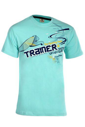 Glara Bavlněné pánské tričko s krátkým rukávem a potiskem 202975