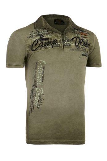 Glara Pánské vintage tričko s nápisem a krátkým rukávem 226058