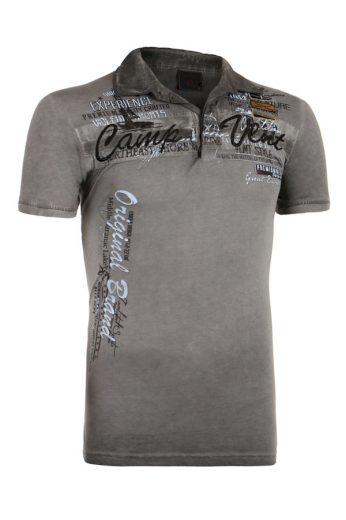 Glara Pánské vintage tričko s nápisem a krátkým rukávem 226063