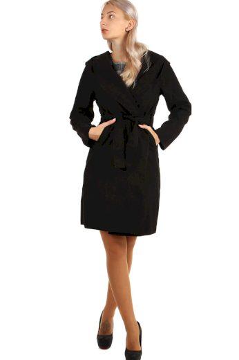 Glara Delší dámský kabát s kapucí 263666