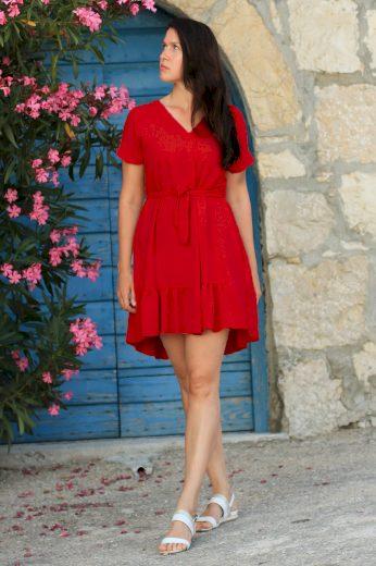 Glara Dámské společenské šaty s kanýrem 549188