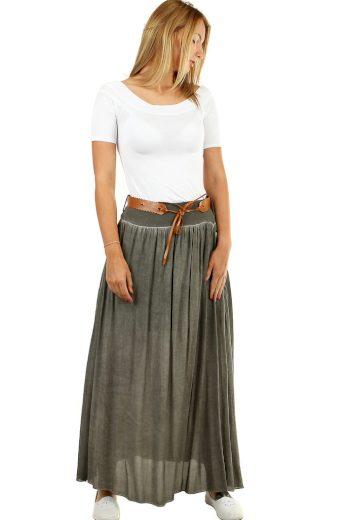 Glara Romantická dlouhá sukně s páskem 477849