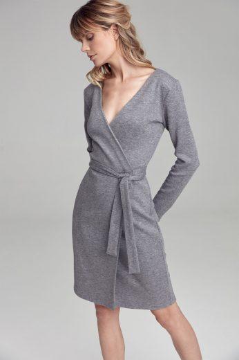 Glara Dámské úpletové zavinovací šaty 557230