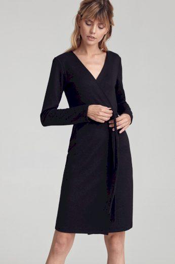 Glara Dámské úpletové zavinovací šaty 557233