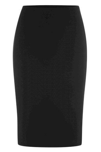 Glara Biobavlněná pouzdrová sukně 568727