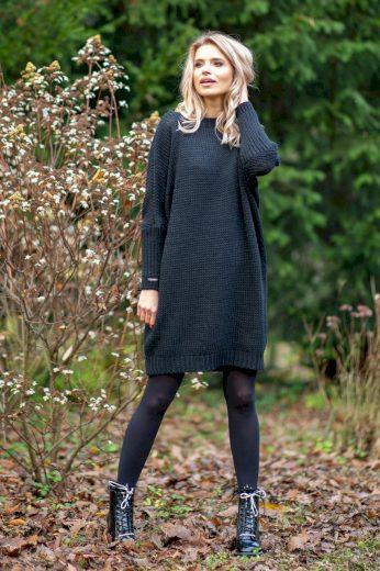 Glara Dámské vlněné šaty na zimu 573185
