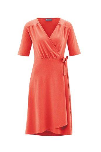 Glara Dámské zavinovací šaty s konopím 559058