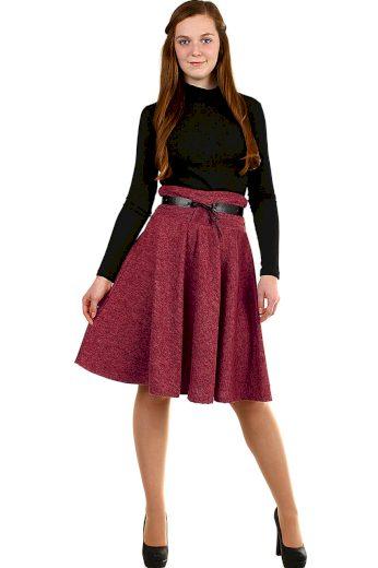 Glara Zimní áčková sukně žíhaný vzor 591946