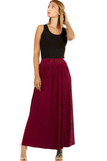 Glara Maxi sukně dámská plisovaná 594834