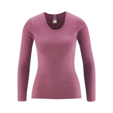 Glara Dámské tričko z organické bavlny dlouhý rukáv 600323