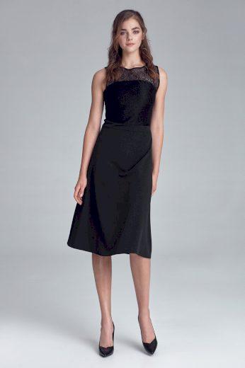 Glara Dámské černé šaty 600244