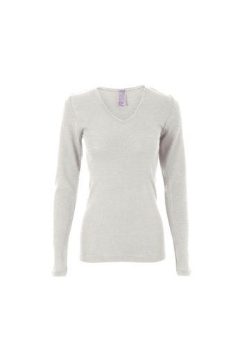 Glara Biovlněné dámské triko s hedvábím 615292