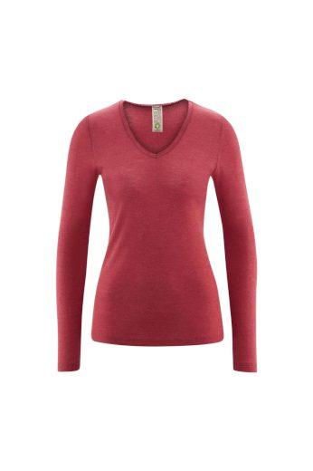 Glara Biovlněné dámské triko s hedvábím 615296
