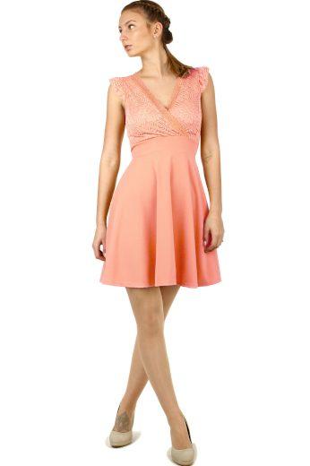 Glara Dámské šaty s krajkou a průstřihem na zádech 633920
