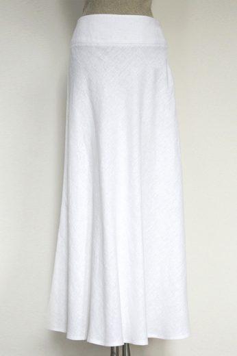 Glara Lněná dámská dlouhá sukně 609263