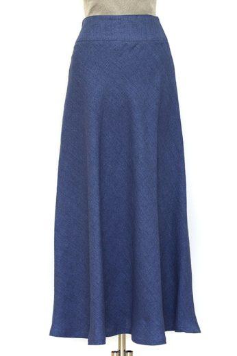 Glara Lněná dámská dlouhá sukně 609267