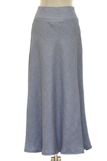 Glara Lněná dámská dlouhá sukně 609271