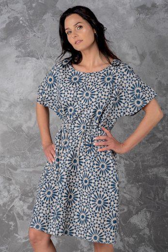 Glara Letní lněné vzorované šaty 609075