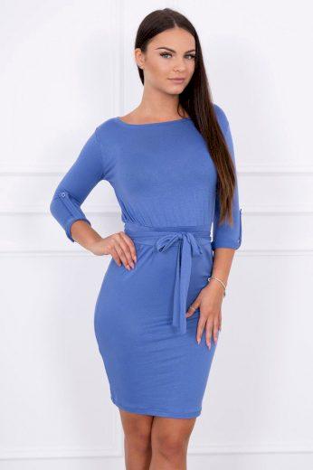 Glara Přiléhavé dámské šaty s páskem 623778