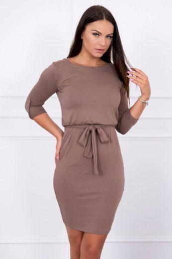 Glara Přiléhavé dámské šaty s páskem 623796