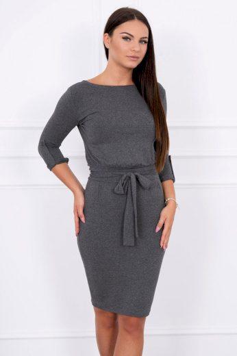 Glara Přiléhavé dámské šaty s páskem 623802