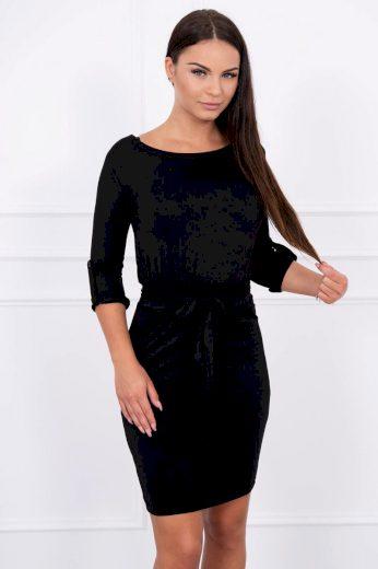 Glara Přiléhavé dámské šaty s páskem 623814