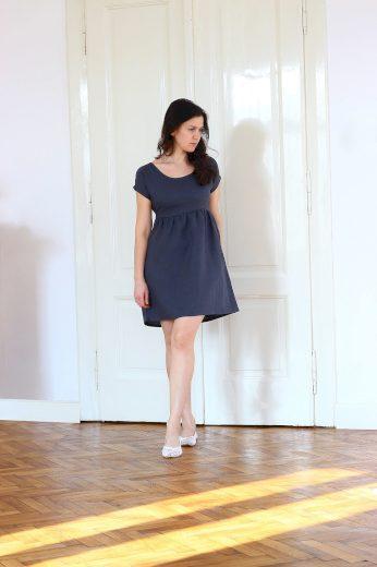 Glara Autorské české lněné šaty Lotika Premium quality 642176