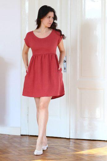 Glara Autorské české lněné šaty Lotika Premium quality 642182