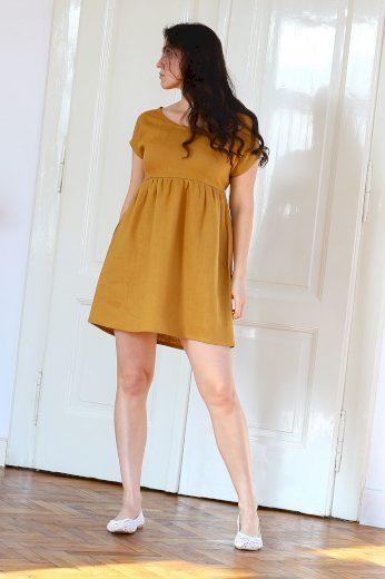 Glara Autorské české lněné šaty Lotika Premium quality 642188
