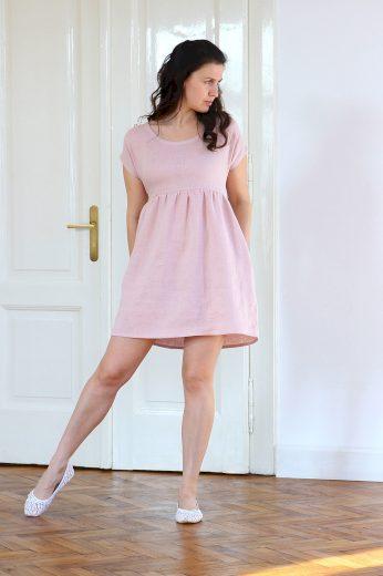 Glara Autorské české lněné šaty Lotika Premium quality 642194