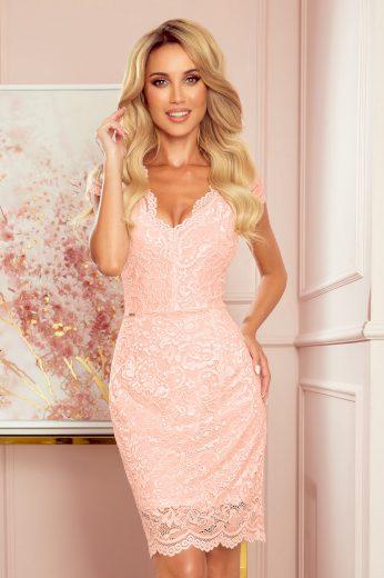 Glara Dámské krajkové šaty s výstřihem 661842