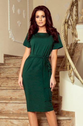 Glara Bavlněné dámské šaty s páskem 661787